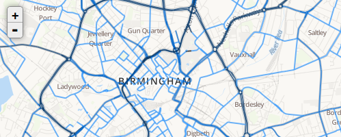 West Midlands Grit Map