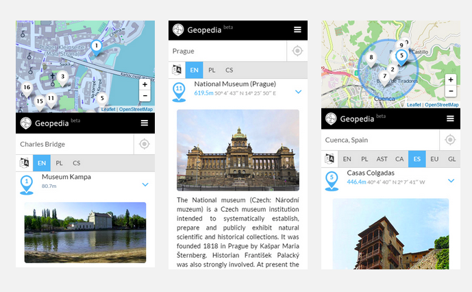 Searching for nearby attractions with geopedia.