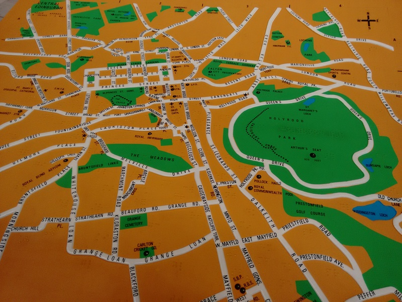 Textured maps for the blind and partially sighted.