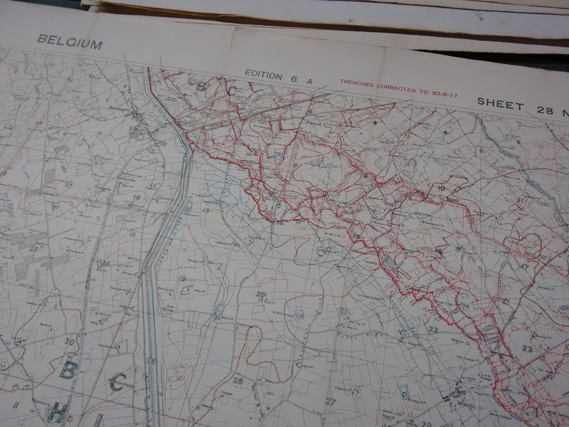 A map of WW1 trench positions in Belgium.